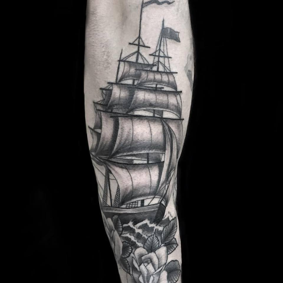 ship anja tattoo arm